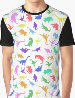 Fun Dinosaur Pattern Graphic T-Shirt