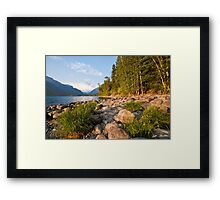 Evening at Lake McDonald Framed Print