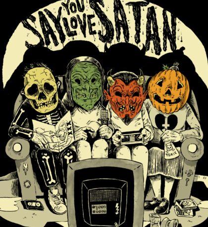 Say You Love Satan 80s Horror Podcast Logo Sticker
