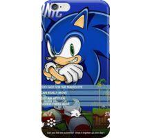 BEST - Sonic The Hedgehog Info Card - CHEAP iPhone Case/Skin