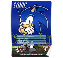 BEST - Sonic The Hedgehog Info Card - CHEAP Poster