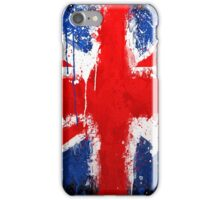 Pattern, British Distressed Painted Flag iPhone Case/Skin