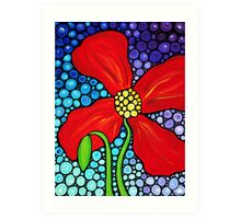 Lady In Red - Large Red Poppy Art Mosaic Print Flower Art Print