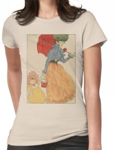 Mother with daughter, art nuevo, art deco style, kid with woman - vintage fashion art - Henri Evenepoel - At The Square Womens Fitted T-Shirt