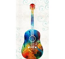 Colorful Guitar Art by Sharon Cummings  Photographic Print