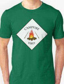 Campfire Vibes Summer PNW Hiking Camping  T-Shirt