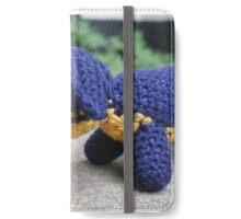 Sausage Dog dachshund crochet photograph iPhone Wallet/Case/Skin