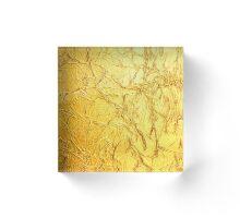 Bling Design, Wrinkled Foil Gold Hue Print Acrylic Block