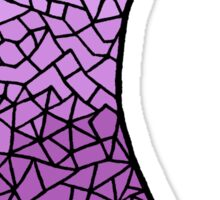 Gradient Crescent Moon Sticker