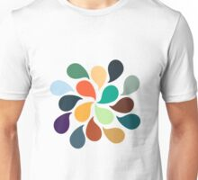 Colorful Water Drops Unisex T-Shirt