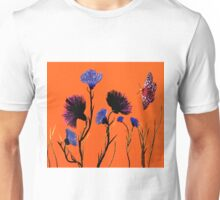 Flower Art in Orange Unisex T-Shirt