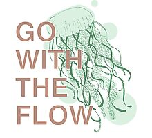 GO WITH THE FLOW - GREEN  Photographic Print