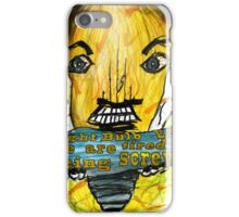 Light Bulb people are angry iPhone Case/Skin