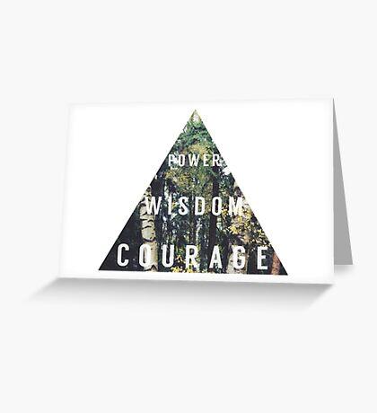 legend of zelda triforce power wisdom courage graphic Greeting Card