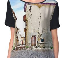 L'Aquila: collapsed buildings Chiffon Top