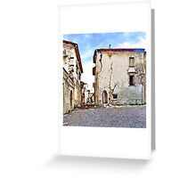 L'Aquila: collapsed buildings Greeting Card