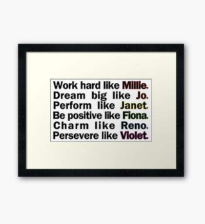 Admirable Characteristics of Sutton Foster Characters | White Framed Print