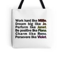 Admirable Characteristics of Sutton Foster Characters | White Tote Bag