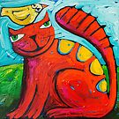 For the love of a bird by ART PRINTS ONLINE         by artist SARA  CATENA