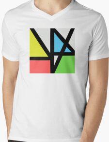 New order logo Mens V-Neck T-Shirt