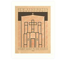 Mount Saint Peter Church - 1942 (Orange) Art Print