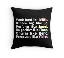Admirable Characteristics of Sutton Foster Characters | Black Throw Pillow