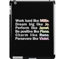 Admirable Characteristics of Sutton Foster Characters | Black iPad Case/Skin