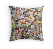 Disney Collage Design Throw Pillow