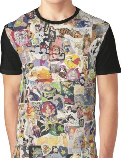 Disney Collage Design Graphic T-Shirt