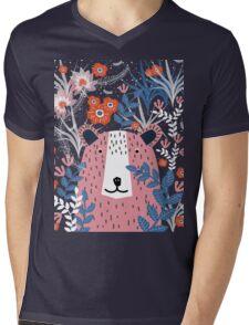 Bear Garden Mens V-Neck T-Shirt
