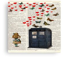 alice tardis police box Canvas Print