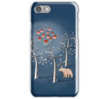 Animal's Nightlife - Bear In Forest iPhone Case/Skin