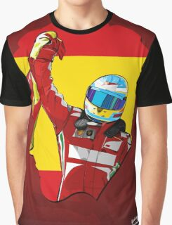 Fernando Alonso/Ferrari Tribute Graphic T-Shirt