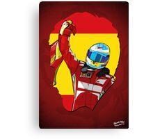 Fernando Alonso/Ferrari Tribute Canvas Print