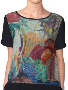Still Life with Roses Chiffon Top