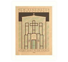 Mount Saint Peter Church - 1942 (Green) Art Print