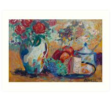 Still Life with Roses Art Print