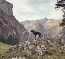 Swiss Mountains Sticker