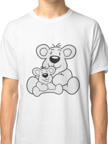 papa child, baby boy, mummy family sweet little cute polar teddy bear sitting funny dick Classic T-Shirt
