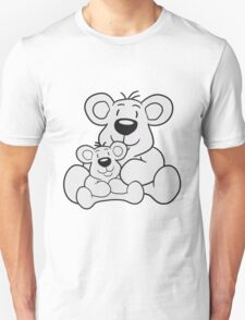 papa child, baby boy, mummy family sweet little cute polar teddy bear sitting funny dick Unisex T-Shirt