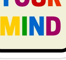 FREE YOUR MIND BUBBLE Sticker