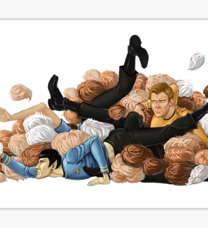 Laocoon orgy of tribbles Sticker