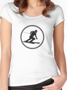 Womens Skiing Women's Fitted Scoop T-Shirt