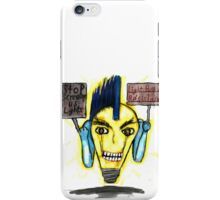Punk Light bulb protesting iPhone Case/Skin