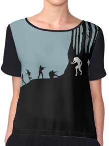 DOG SOLDIERS Chiffon Top