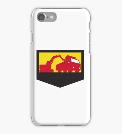 Mechanical Digger Loading Dump Truck Shield Retro iPhone Case/Skin