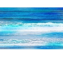 Watercolor Waves Photographic Print
