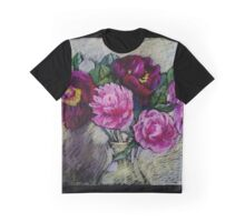 Peonies in a vase. Pastel painting Graphic T-Shirt