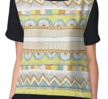 sketchy pattern in pale colors Chiffon Top
