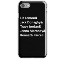 30 Rock Names iPhone Case/Skin